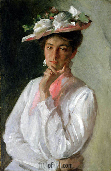 Woman in White, c.1910 | William Merritt Chase | Painting Reproduction