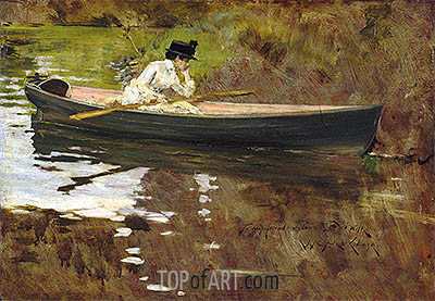 Mrs Chase in Prospect Park, 1886   William Merritt Chase   Painting Reproduction