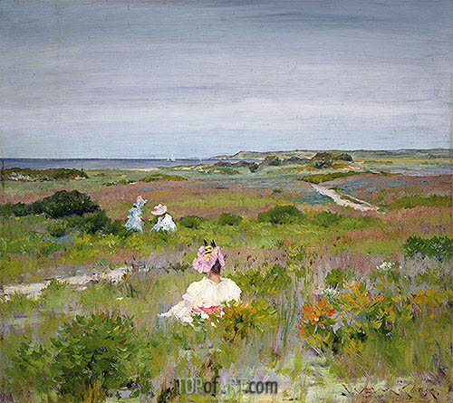 Landscape: Shinnecock, Long Island, c.1896 | William Merritt Chase | Painting Reproduction