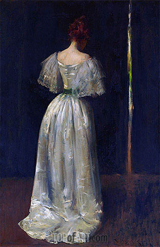 Seventeenth Century Lady, c.1895 | William Merritt Chase | Painting Reproduction