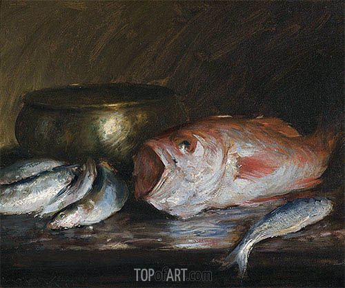 Red Snapper, undated | William Merritt Chase | Gemälde Reproduktion