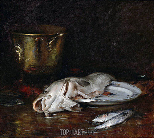 An English Cod, 1904 | William Merritt Chase | Gemälde Reproduktion