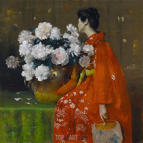 Spring Flowers (Peonies), 1889 | William Merritt Chase | Painting Reproduction
