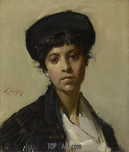 Portrait of a Woman, c.1912 | William Merritt Chase | Painting Reproduction