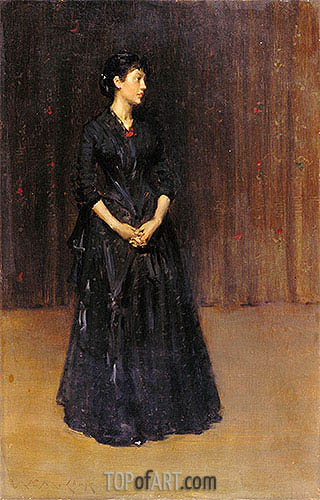Woman in Black, c.1890   William Merritt Chase   Painting Reproduction