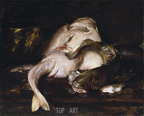 Still Life, Fish, 1912 | William Merritt Chase | Gemälde Reproduktion