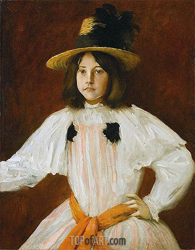 Portrait of Artist's Daughter, c.1895 | William Merritt Chase | Gemälde Reproduktion