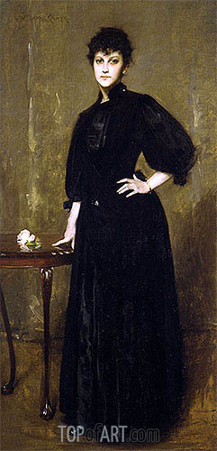 Lady in Black, 1888 | William Merritt Chase | Painting Reproduction
