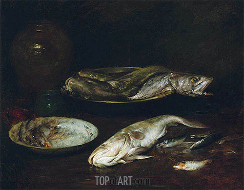 Still Life - Fish, c.1900 | William Merritt Chase | Painting Reproduction