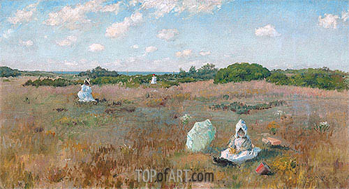 Gathering Autumn Flowers, c.1894/95 | William Merritt Chase | Painting Reproduction