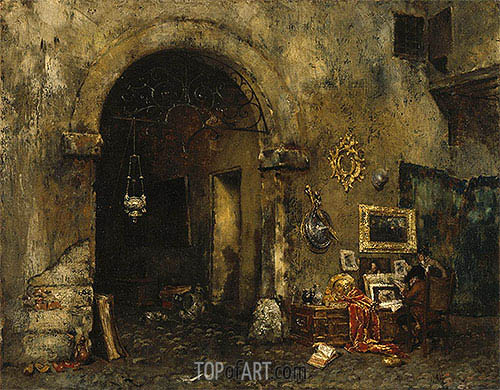 The Antiquary Shop, 1879 | William Merritt Chase | Painting Reproduction