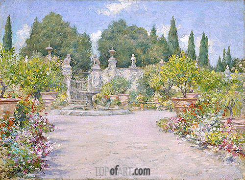 An Italian Garden, c.1909 | William Merritt Chase | Painting Reproduction