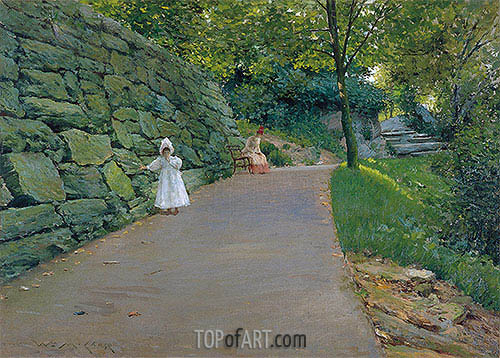 In the Park (A By-path), c.1889 | William Merritt Chase | Gemälde Reproduktion