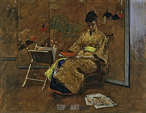 The Kimono, c.1895 | William Merritt Chase | Painting Reproduction