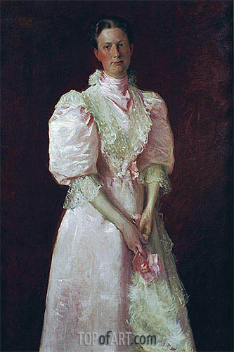 A Study in Pink (Mrs. Robert McDougal), 1895 | William Merritt Chase | Painting Reproduction