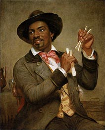 The Bone Player, 1856 by William Sidney Mount | Painting Reproduction