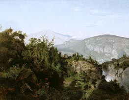 In the Adirondack Mountains, 1857 by William Trost Richards | Painting Reproduction