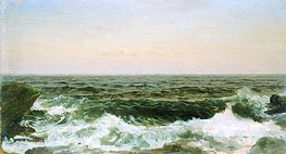 Sea off Cananicut Island, R. I., c.1880 by William Trost Richards | Painting Reproduction