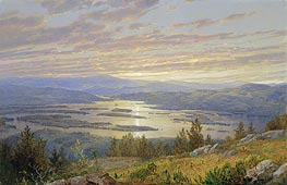 Lake Squam from Red Hill, 1874 by William Trost Richards | Painting Reproduction