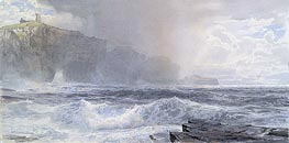 Sea and Cliffs, 1892 by William Trost Richards | Painting Reproduction