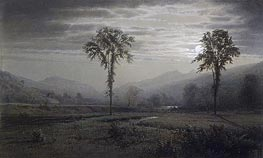 Moonlight on Mount Lafayette, New Hampshire, 1873 by William Trost Richards | Painting Reproduction