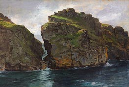 Near Tintagel, Cornwall, c.1890/99 by William Trost Richards | Painting Reproduction