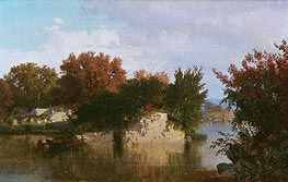 Trees along Stream in Fall, 1861 by William Trost Richards | Painting Reproduction