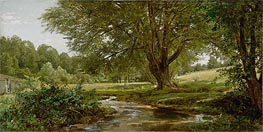 Glade at Oldmixon, Chester County, Pennsylvania | William Trost Richards | Painting Reproduction