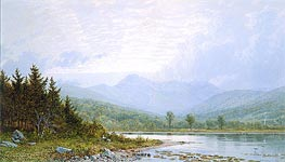 Sunset on Mount Chocorua, New Hampshire | William Trost Richards | Gemälde Reproduktion