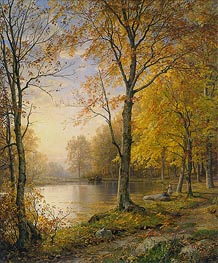 Indian Summer, 1875 by William Trost Richards | Painting Reproduction