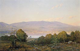 Sundown at Centre Harbor, New Hampshire, 1874 by William Trost Richards | Painting Reproduction
