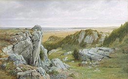 Near Paradise, Newport, 1877 by William Trost Richards | Painting Reproduction