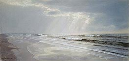 Beach with Sun Drawing Water, 1872 by William Trost Richards | Painting Reproduction
