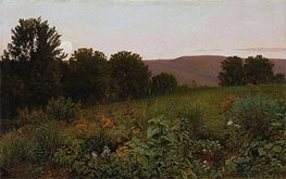 Sunset on the Meadow, 1861 by William Trost Richards | Painting Reproduction
