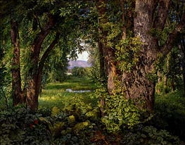 In the Woods, 1860 by William Trost Richards | Painting Reproduction