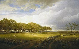 Old Orchard at Newport, 1875 by William Trost Richards | Painting Reproduction