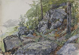 Woodland Boulders, c.1877/78 by William Trost Richards | Painting Reproduction