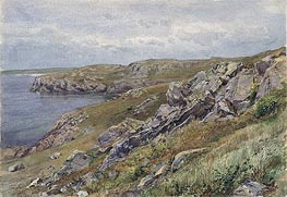 Rhode Island Coast: Conanicut Island, c.1880 by William Trost Richards | Painting Reproduction