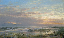 A High Tide at Atlantic City, 1873 by William Trost Richards | Painting Reproduction