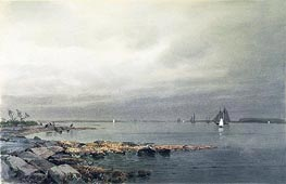 Calm Before a Storm, Newport, c.1874 by William Trost Richards | Painting Reproduction