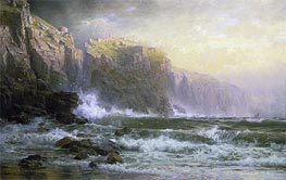 The League Long Breakers Thundering on the Reef, 1887 by William Trost Richards | Painting Reproduction