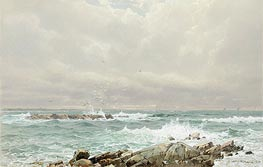 Seascape, 1875 by William Trost Richards | Painting Reproduction