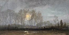 Moonlit Landscape | William Trost Richards | Gemälde Reproduktion