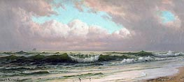 Seascape, Waves, c.1890 by William Trost Richards | Painting Reproduction
