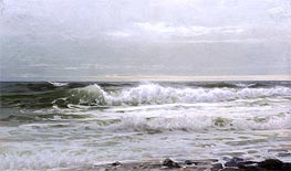Seascape, c.1890 by William Trost Richards | Painting Reproduction