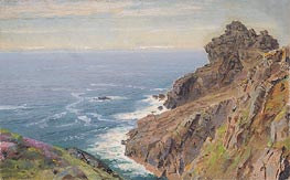 Coast Near Boscastle, Cornwall | William Trost Richards | Gemälde Reproduktion
