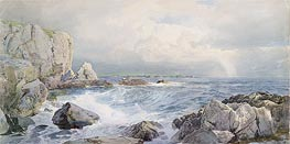 Rocks and Cliffs near the Sea | William Trost Richards | Painting Reproduction
