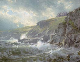 View of the Artist's Home, Graycliff, Newport, Rhode Island | William Trost Richards | Painting Reproduction