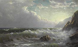 Off the Coast of Cornwall, 1904 by William Trost Richards | Painting Reproduction