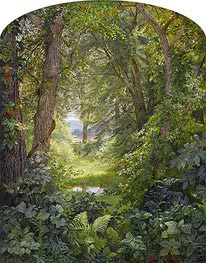 Woodland Landscape (Woodland Glade), 1860 by William Trost Richards | Painting Reproduction